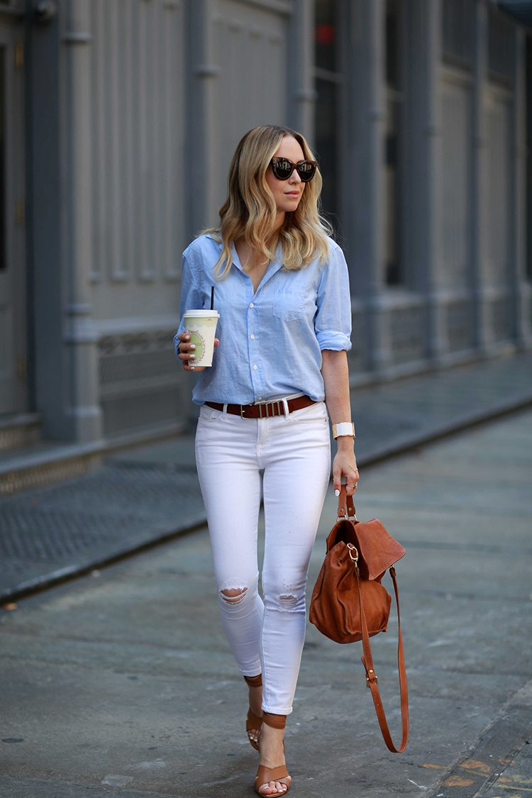 How to Style White Denim