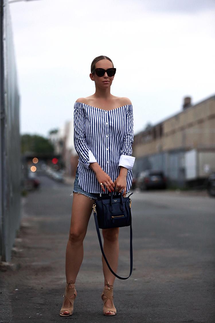 Rag and Bone Striped Off the Top and Celine Nano bag