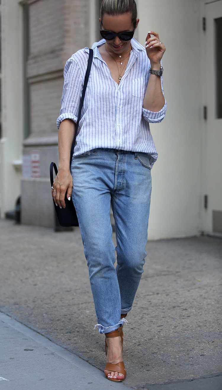 how to style boyfriend jeans in the summer - brooklyn blonde