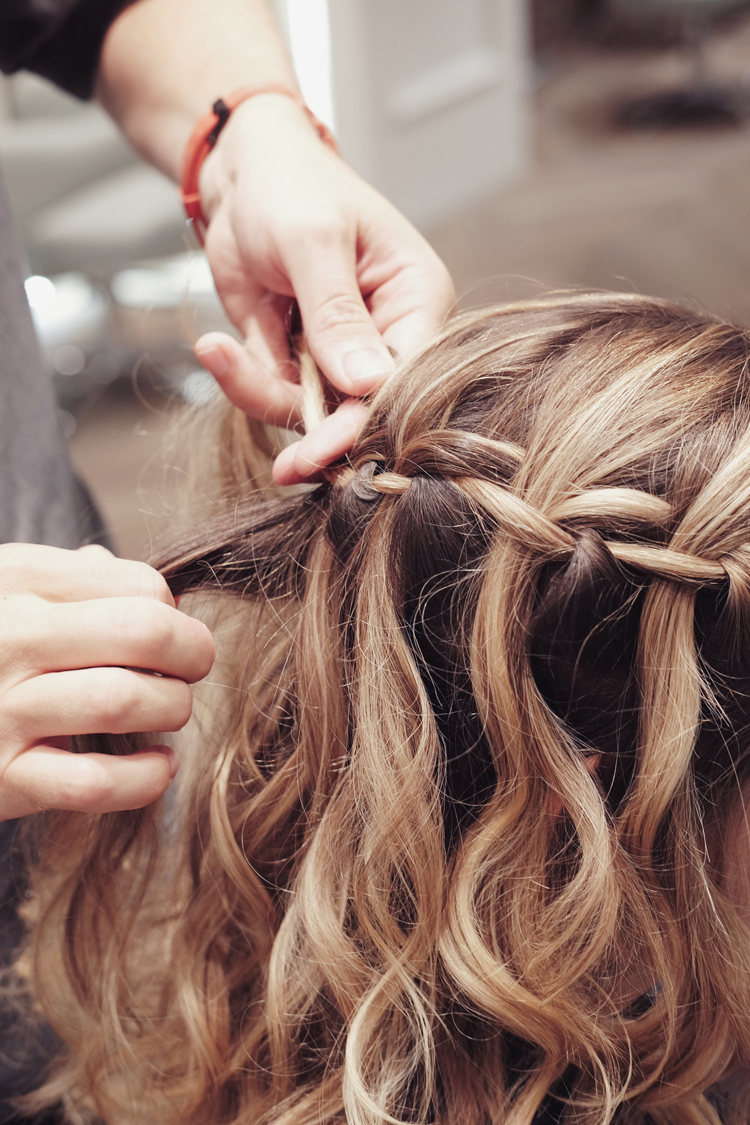 Nexxus New York Salon waterfall braid