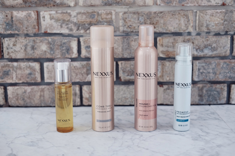 Nexxus New York Salon Comb Thru Mist, Heat Protectant Mist, Volumizing Mousse, Nourishing Hair Oil