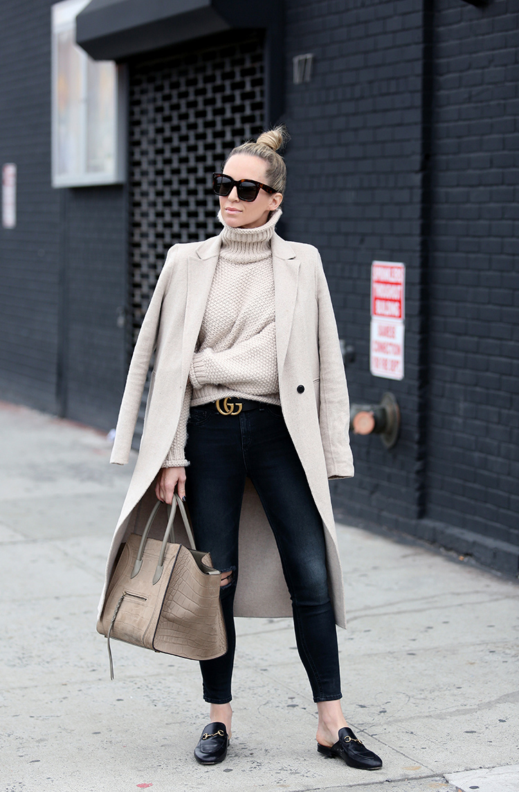 Winter Outfit Inspiration, Gucci Loafers, Helena of Brooklyn Blonde