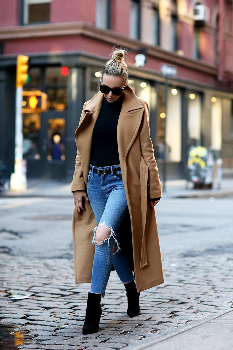 Camel Coat Inspiration | Mackage Babie Wrap Coat | Brooklyn Blonde