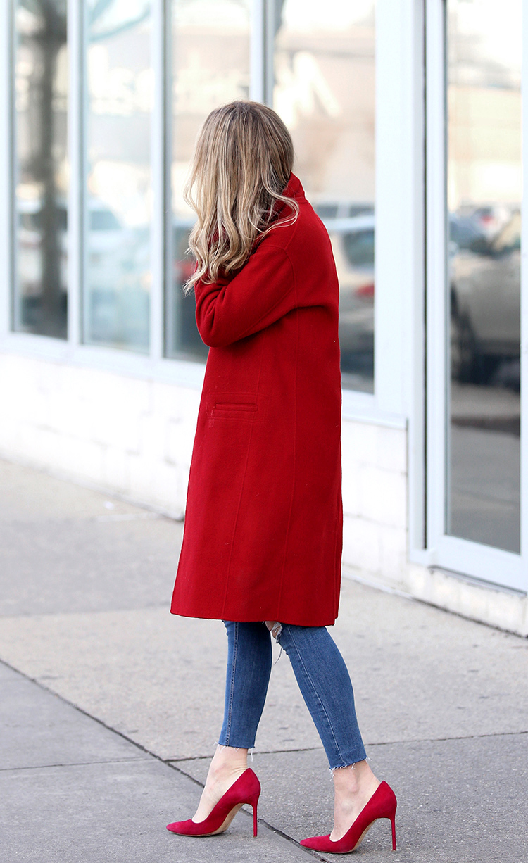 Bold Red Coat & Red Pumps | How to Wear a Red Coat.