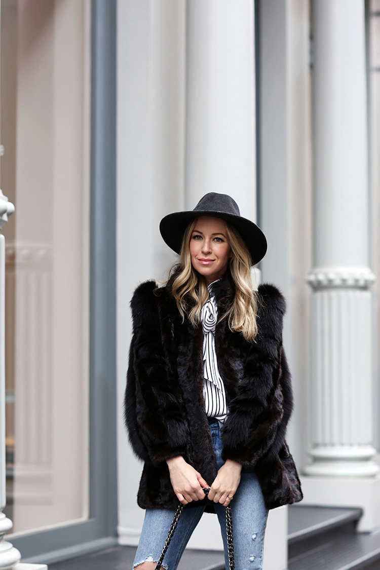Winter Style Inspiration | Faux Fur and Rag & Bone Hat