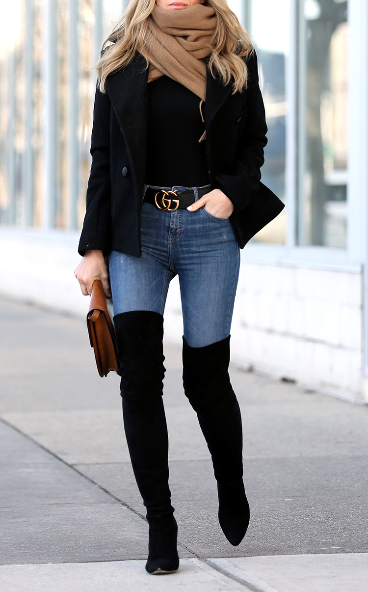 Winter Style All Legs and Gucci Belt | Brooklyn Blonde