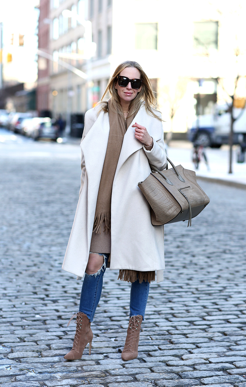 winter outfit inspiration | neutral outfit | celine phantom bag  | Closet Essentials: Camel Scarves