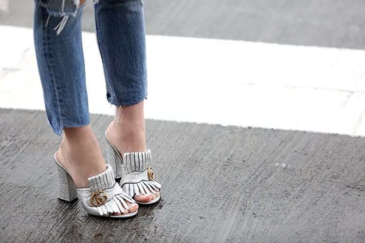 Gucci Marnmont Fringed Mules   Brooklyn Blonde