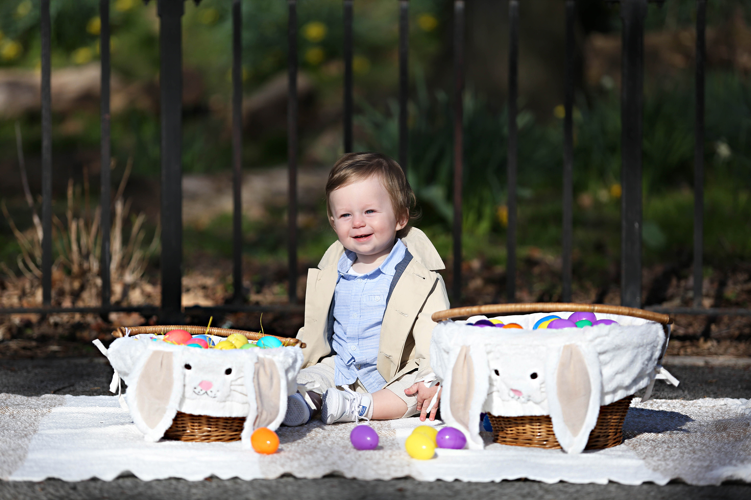 Easter Decorations | Kids Easter Party | Easter Ideas for Kids | Nate's First Easter Party | Brooklyn Blonde x Pottery Barn Kids | Brooklyn Blonde
