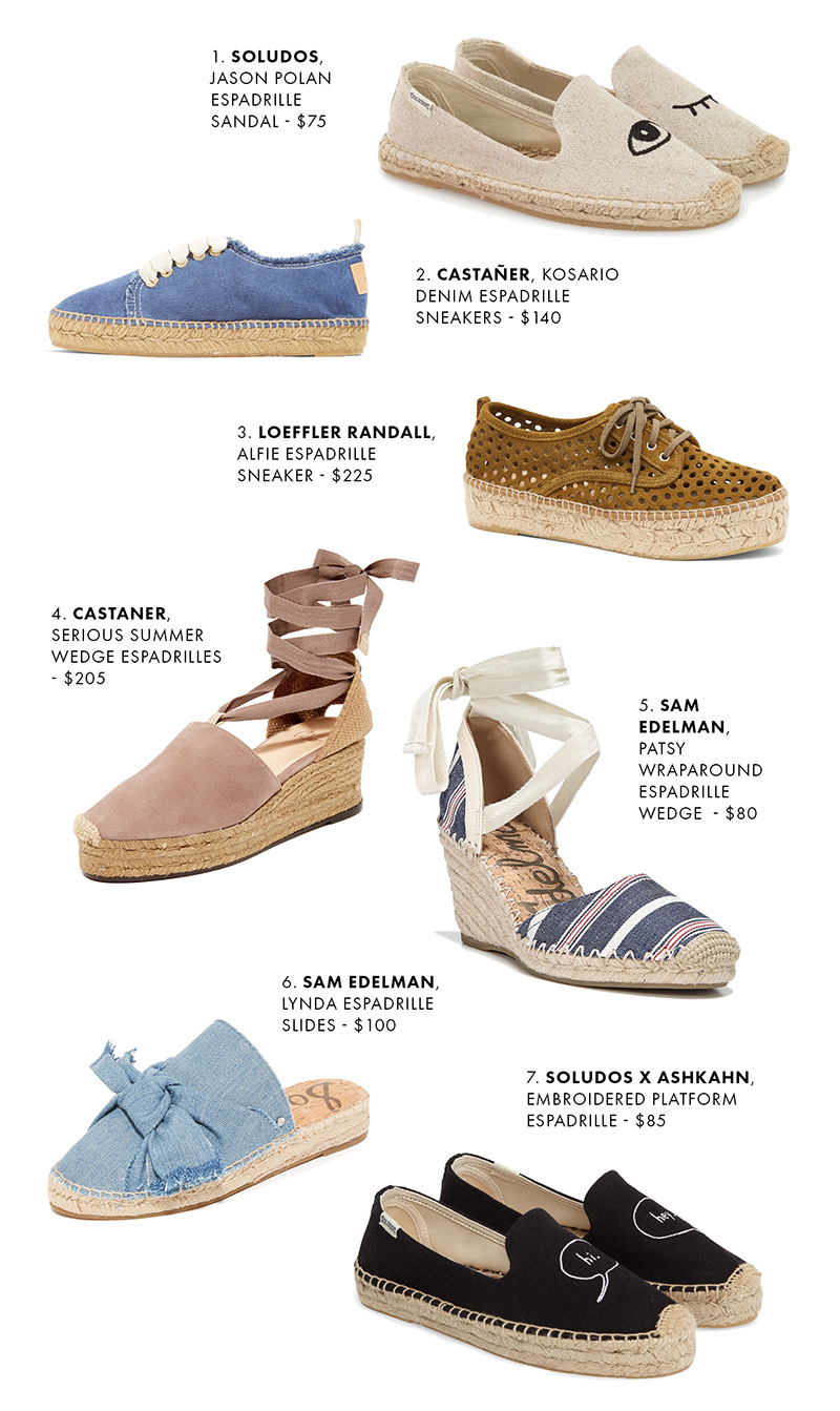 Espadrilles - My 7 Favorite Pairs for Summer | Brooklyn Blonde