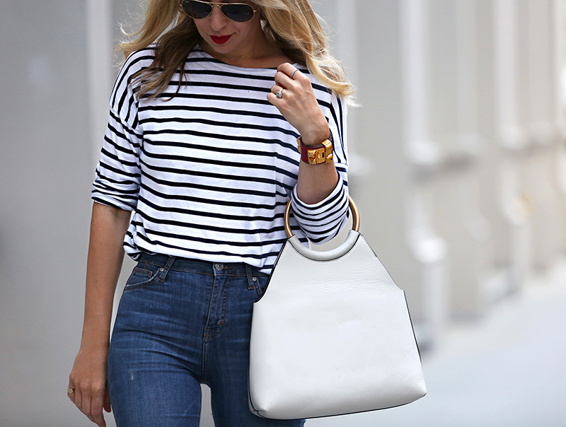 Saint James for J Crew striped top | Helena from Brooklyn Blonde