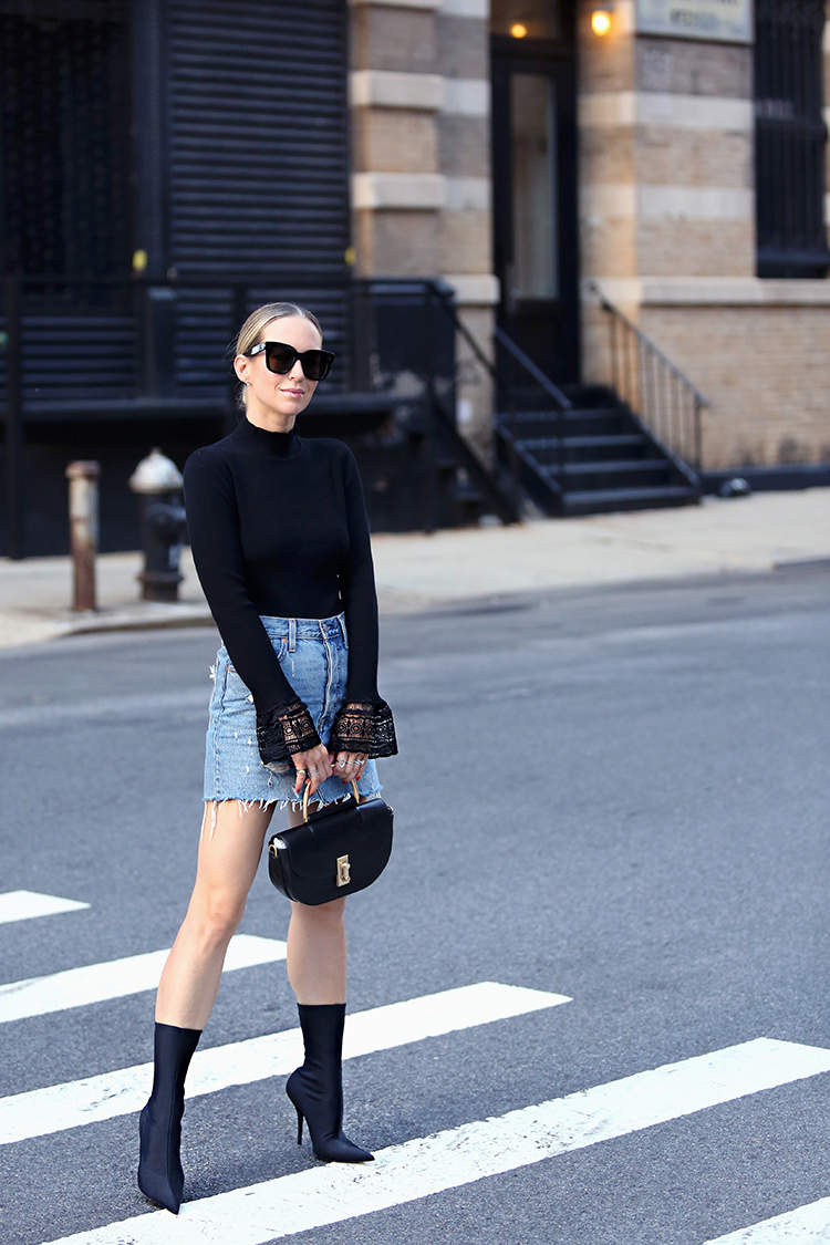 Celine Tilda Sunglasses and Balenciaga Sock Booties
