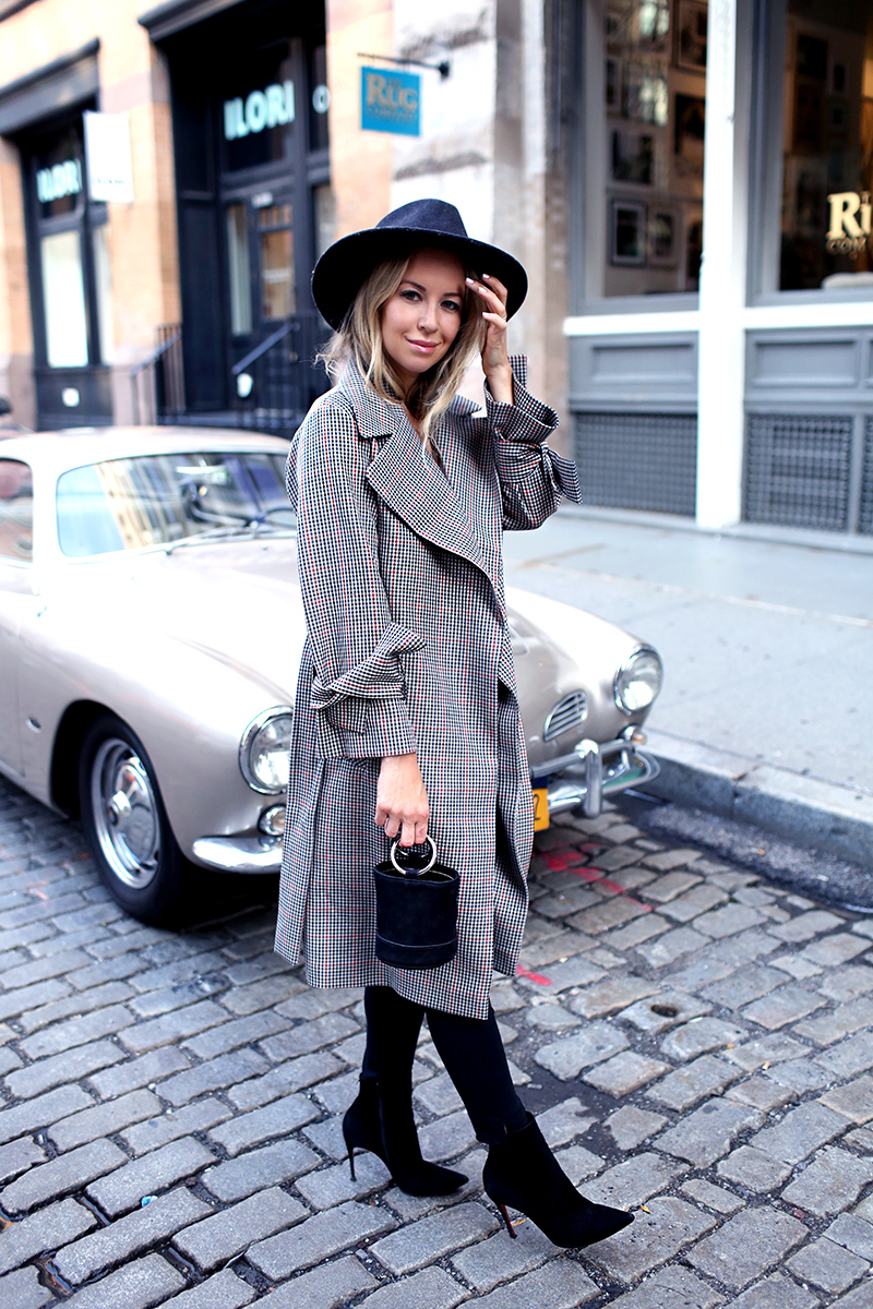 Fall Style Inspiration: Plaid Trench Coat and Simon Miller Bag