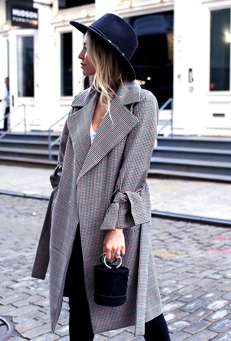 Fall Style: Plaid Trench Coat