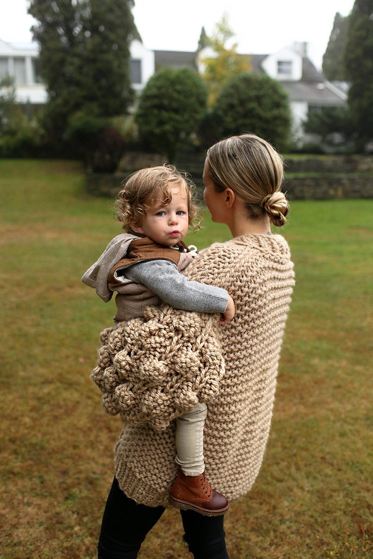 Mum's Handmade Sweater | Helena from Brooklyn Blonde