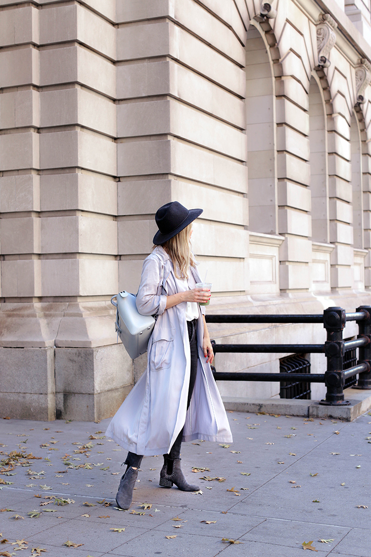 Fall Style: Trench and Marc Fisher Ankle Boots