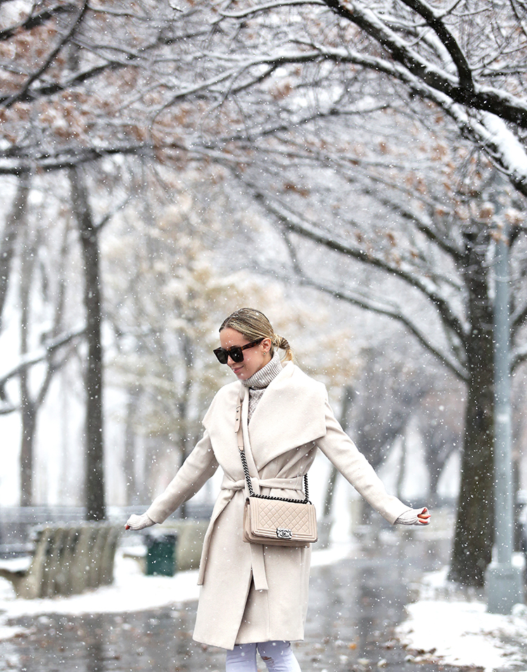 Wrap Coat, Chanel Boy Bag, Winter Style Inspiration, Helena of Brooklyn Blonde