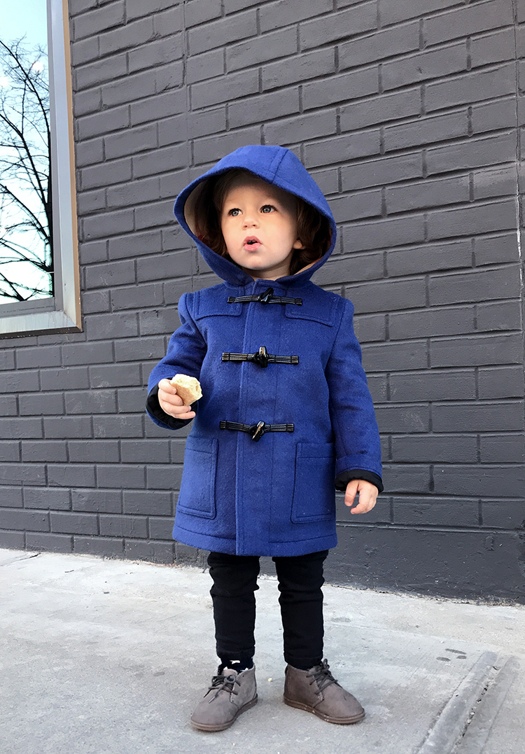 Burberry Kids Coat, Blue Kids Coat, Far Fetch, Helena of Brooklyn Blonde