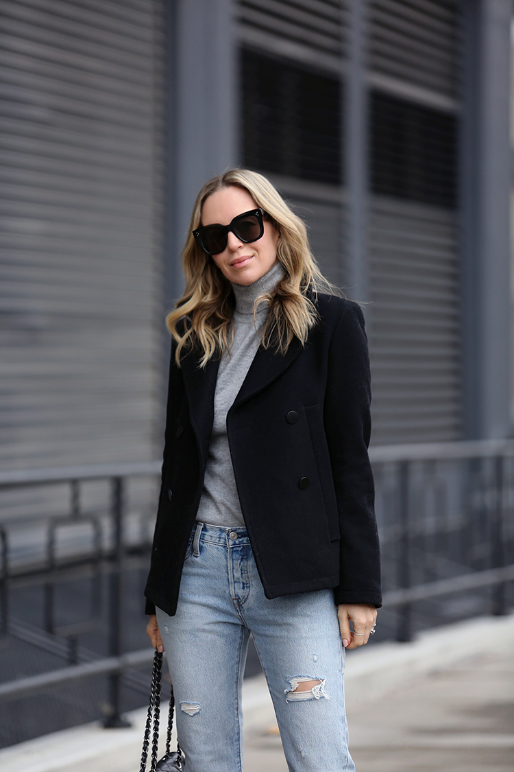 Winter Outfit Ideas, Peacoat, Helena of Brooklyn Blonde