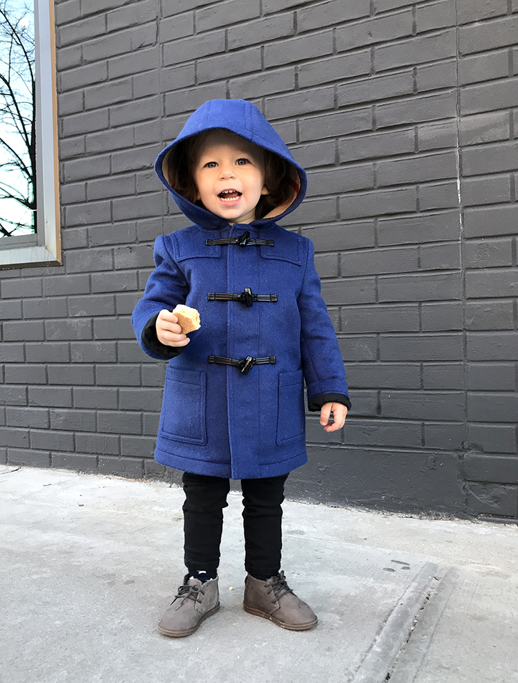 Burberry Kids Coat, Blue Kidswear Coat, Far Fetch, Helena of Brooklyn Blonde