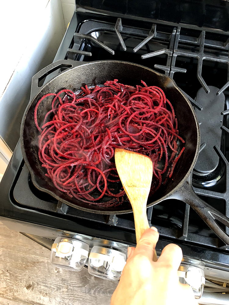 KitchenAid Standing Mixer, Food Recipes, Spiralized Beet Noodles, Helena of Brooklyn Blonde