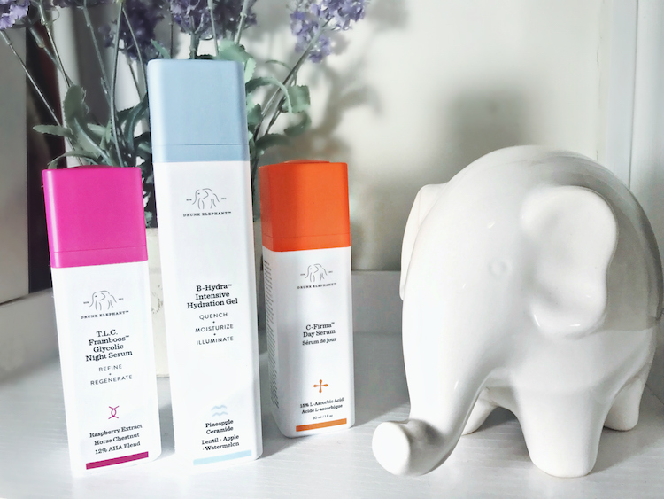 Monthly Beauty Favorites, Drunk Elephant T.L.C. Framboos Glycolic Night Serum, B-Hydra Intensive Hydration Gel, C-Firma Day Serum, Helena of Brooklyn Blonde