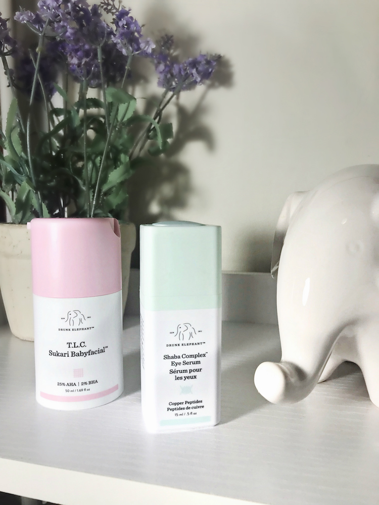 Monthly Beauty Favorites, Drunk Elephant T.L.C. Sukari Babyfacial, Shaba Complex Eye Serum, Helena of Brooklyn Blonde