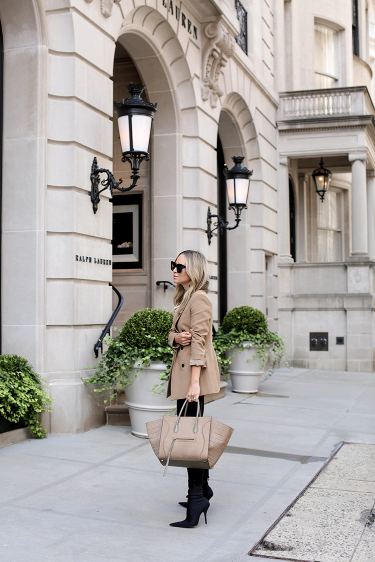 Camel Theory Blazer, NYC Street Style, Spring Outfit, Helena of Brooklyn Blonde