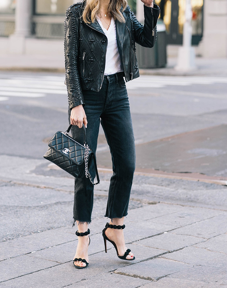 Nour Hammour, Alaia Shoes, Chanel Trendy CC Bag, Helena of Brooklyn Blonde