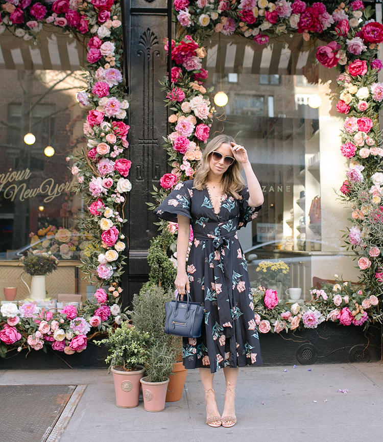 Nicholas Piper Floral Midi Dress, Spring Style, Helena of Brooklyn Blonde