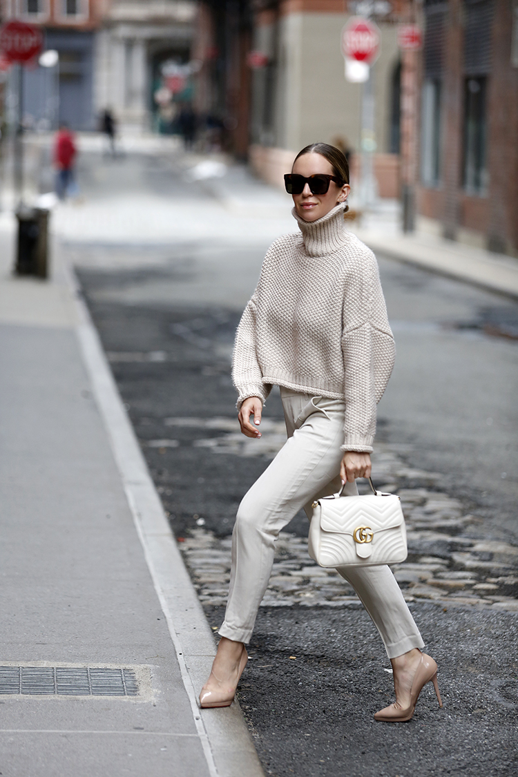 Knit Sweater Outfit, Helena of Brooklyn Blonde
