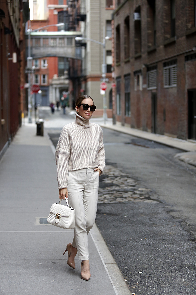 Monochromatic Outfit, NYC Street Style, Helena of Brooklyn Blonde