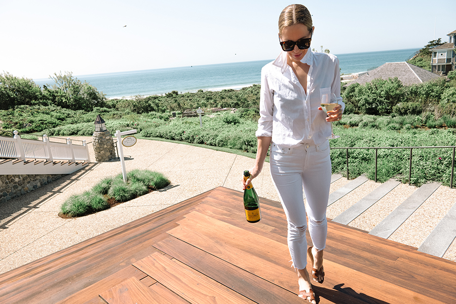 White Monochromatic Summer Outfit, Helena of Brooklyn Blonde