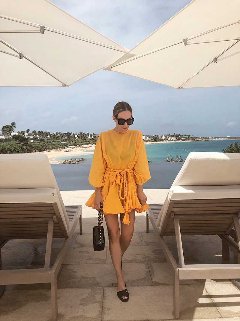 Rhode Yellow Dress, Anguilla, Travel Ideas and Outfit, Helena of Brooklyn Blonde