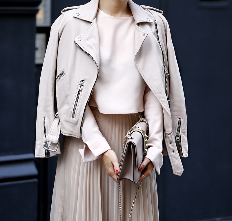 All Saints Blush Leather Jacket, Helena of Brooklyn Blonde