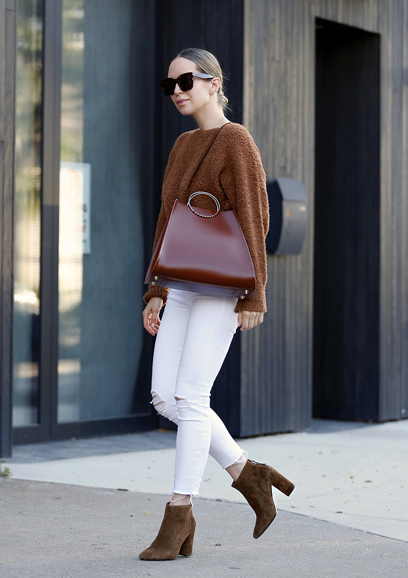Ash Joy Brown Suede Booties, Fall Trend, Helena of Brooklyn Blonde