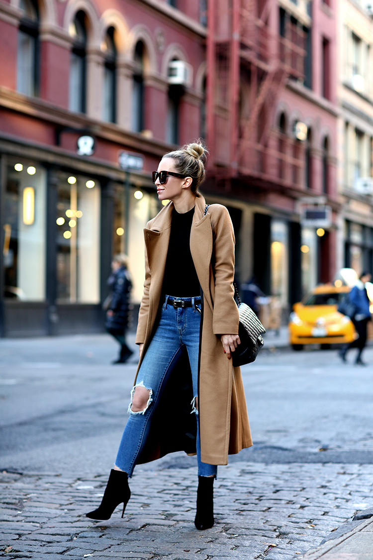 Mackage Babie Coat in Camel, Fall Trend, Helena of Brooklyn Blonde