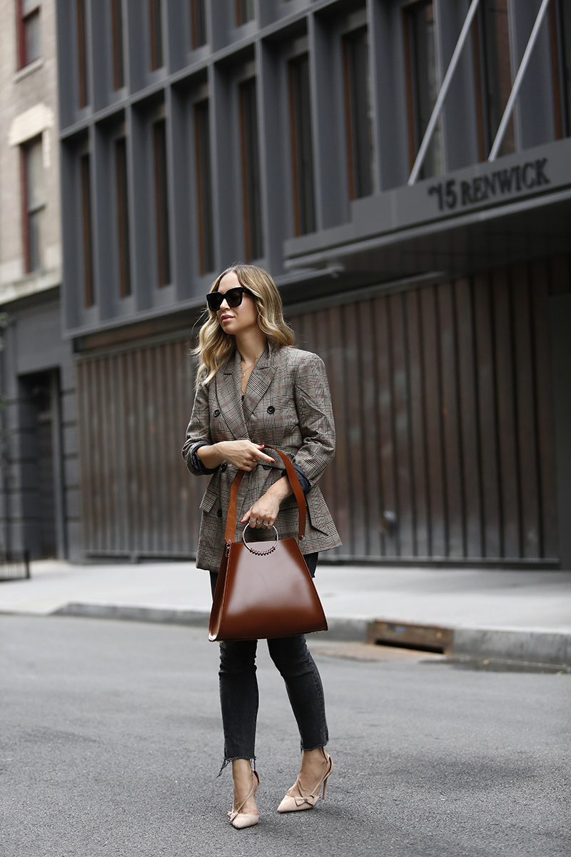 Work Wear, Belted Blazer, Fall Outfit, Helena of Brooklyn Blonde