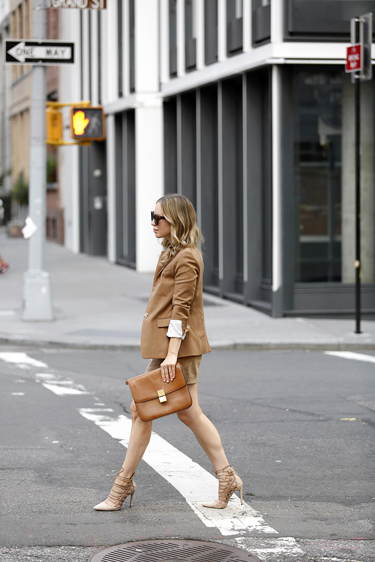 Camel Outfit, Fall Style, J.Crew Womens Parka Blazer, Helena of Brooklyn Blonde