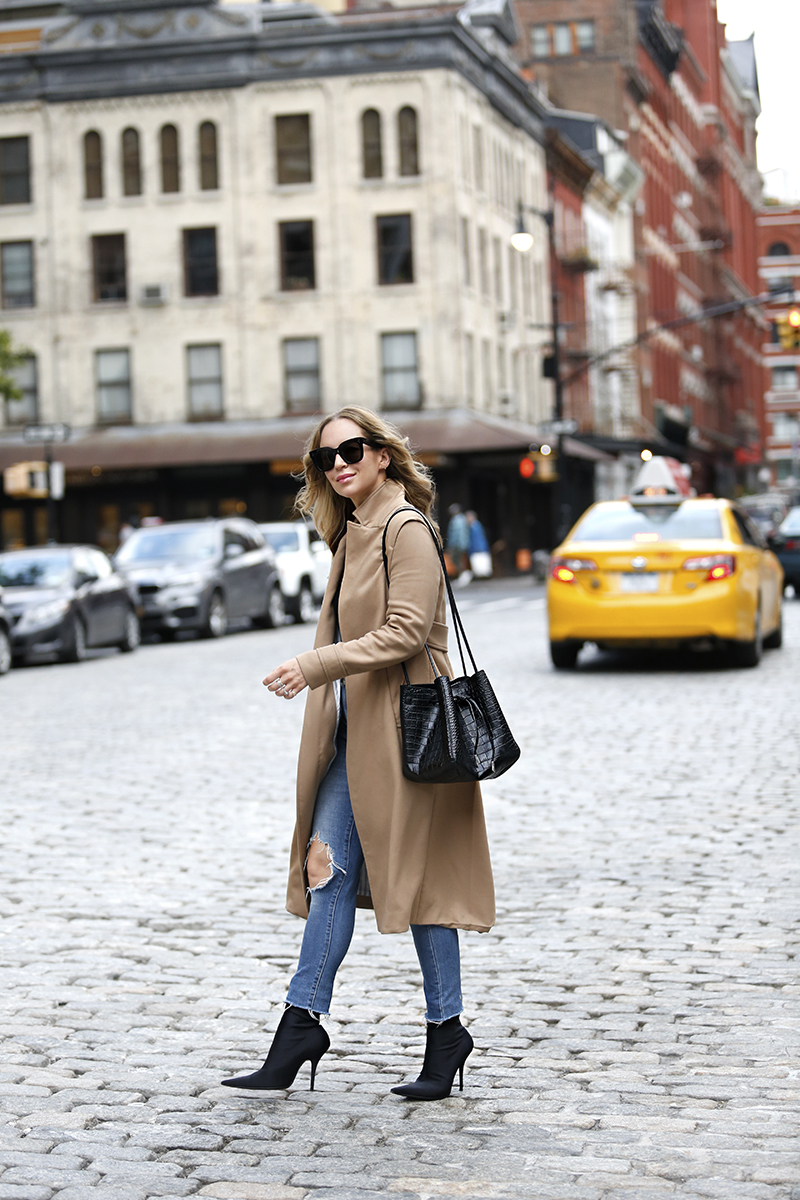 Camel Coat, Fall Outfit, NYC Street Style, Helena of Brooklyn Blonde