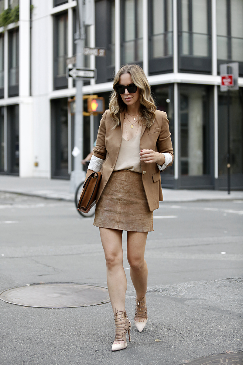 Monochromatic Camel Outfit, Fall Style, Helena of Brooklyn Blonde