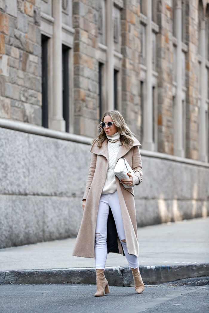 Winter Whites: Two Shoe Looks