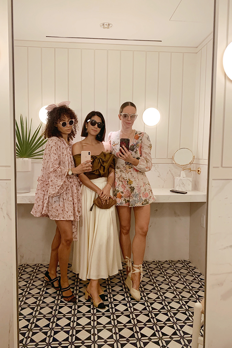 Zimmermann Heathers Picot-Trimmed Floral Playsuit, Castaner 80 Canvas Wedge Espadrilles, Spring Style, Helena of Brooklyn Blonde