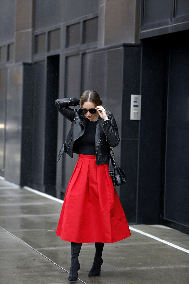 full tibi skirt red, helena glazer of Brooklyn blonde