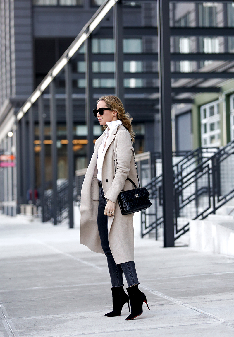 One Outfit: Oatmeal Coat, Winter Outfit, Helena of Brooklyn Blonde