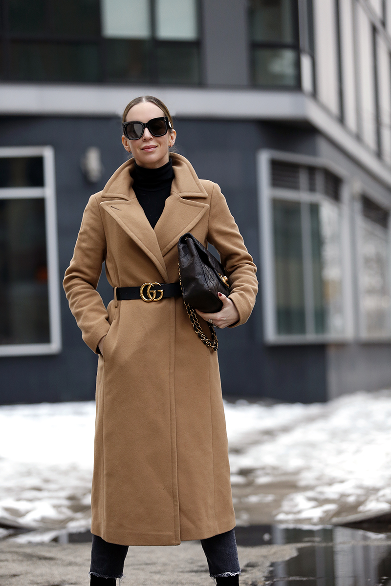 A Classic Camel Coat Outfit - Winter Style by Helena of Brooklyn Blonde