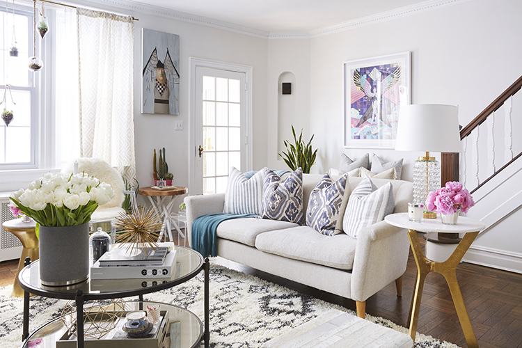 living room brooklyn home tour 10081