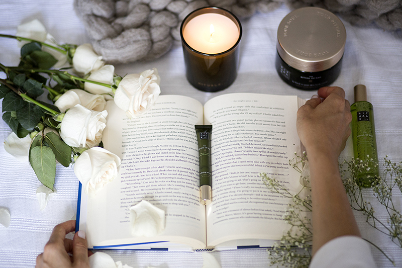weekend notes and a candle