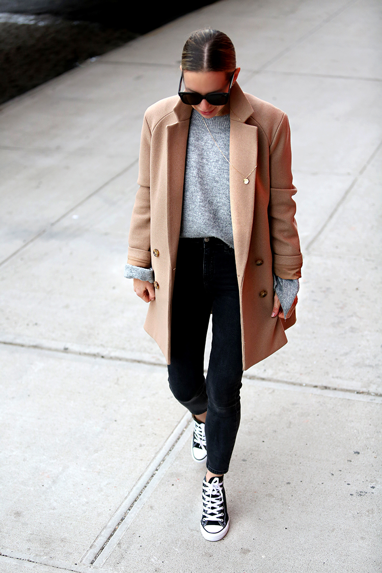 Theory Camel Coat, Fall Coat Style, Helena of Brooklyn Blonde