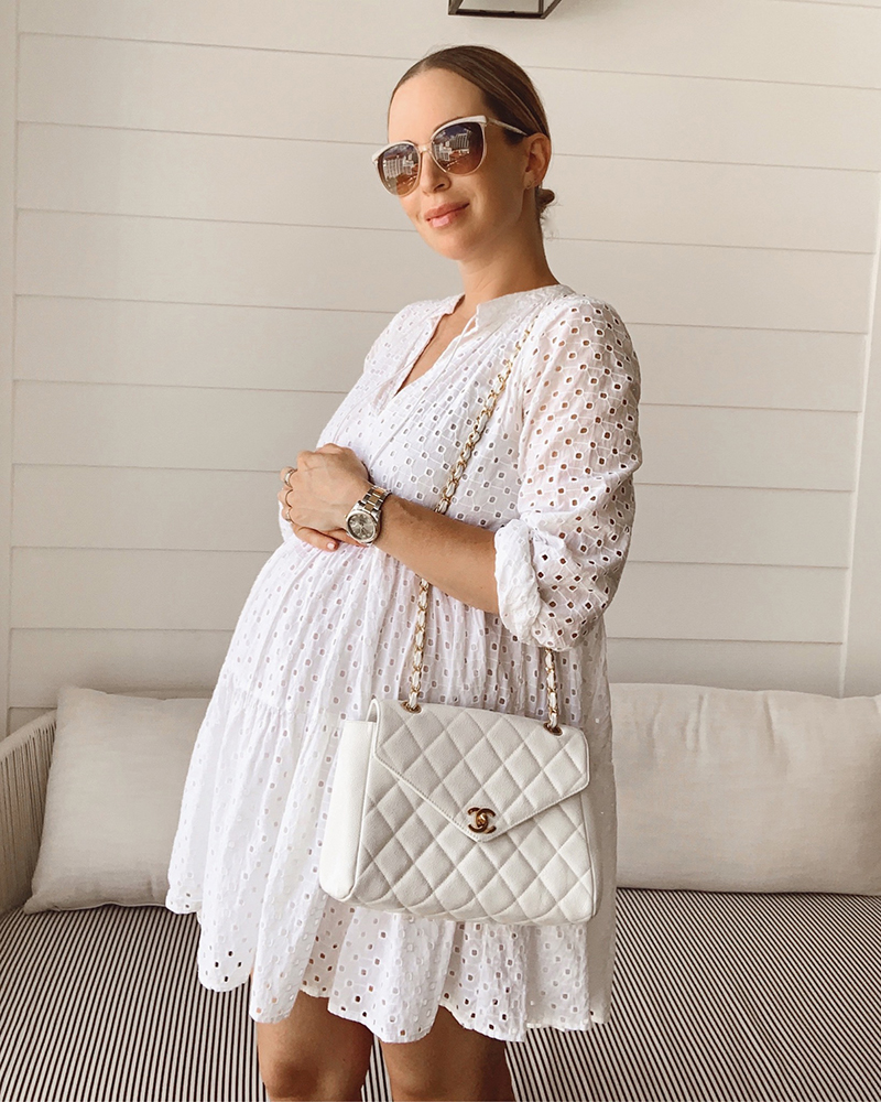 white is great way to dress the baby bump